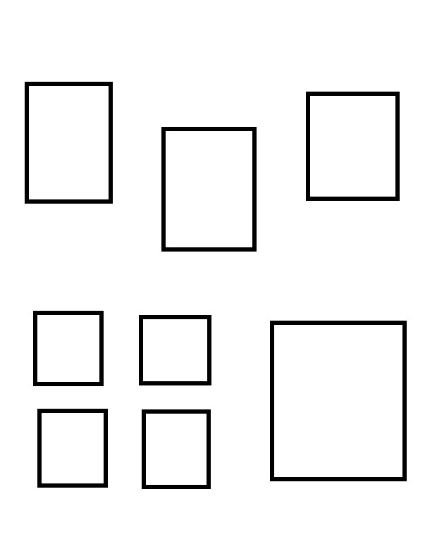 a scattering of rectangles representing the layout of encaps