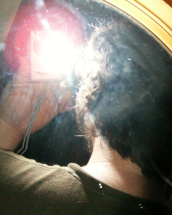 Doug from the back using a mirror